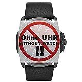Diesel Uhrband Wechselarmband LB-DZ1657 Original Ersatzband DZ 1657 Uhrenarmband Leder 27 mm Schwarz