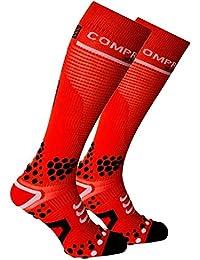 Compressport - Calcetines, talla XL (Talla del fabricante : 4L), color rojo