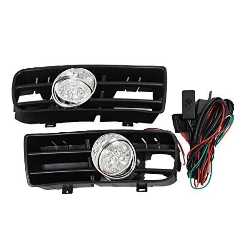Brouillard lampe grille - SODIAL(R)LED Phare Lampe Feux Anti-Brouillard Grille Avant Pour VW 99-04 Golf MK4 GTI TDI 6000K