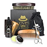 Beard Grooming Kit for Men Care, Beard Brush, Aliver Beard Comb, Beard Boar
