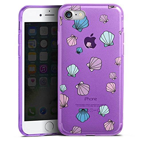 Apple iPhone 8 Silikon Hülle Case Schutzhülle Muscheln ohne Hintergrund Muster Silikon Colour Case lila