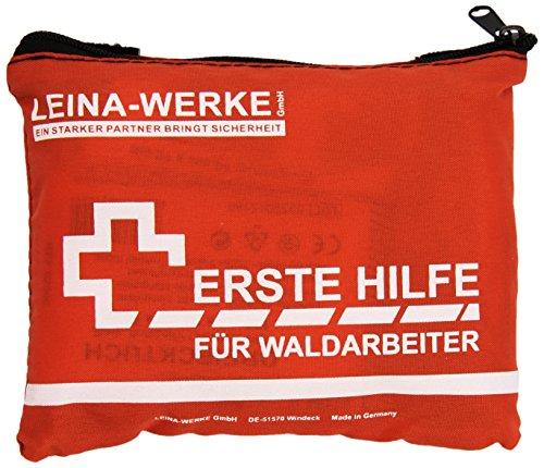 LEINA-WERKE 51001 erste Hilfe-Set für Waldarbeiter, Orange, 155 x 30 x 110mm