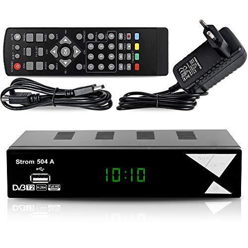 Strom 504 Décodeur TNT Full HD -DVB-T2 - Compatible HEVC264 - (HDMI,Péritel, USB, Digital Plus) Noir
