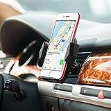 Mpow Support Téléphone Voiture Universel à Angle Réglable, Fixation à la Grille Aération pour iPhone X/7/6/6s, Samsung Galaxy S8/S7/S6, Nokia, Huawei, Xiaomi, Sony, 18 Mois Garantie