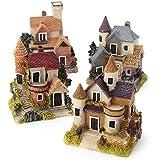 ShopyStore Vintage Mini Resin House Miniature Fairy Micro Landscape Home Garden Decor