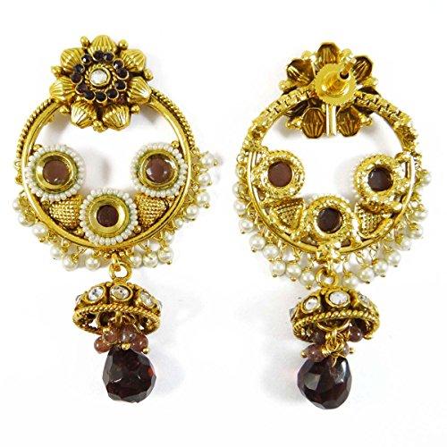 les femmes ethniques Dangle Boucles d'oreilles bijoux traditionnels boucle d'oreille pourpre ensemble cadeau pour elle purple-20