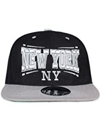 Original Snapback (one size, NY Square Schwarz / Weiß) + Original MY CHICOS Sticker