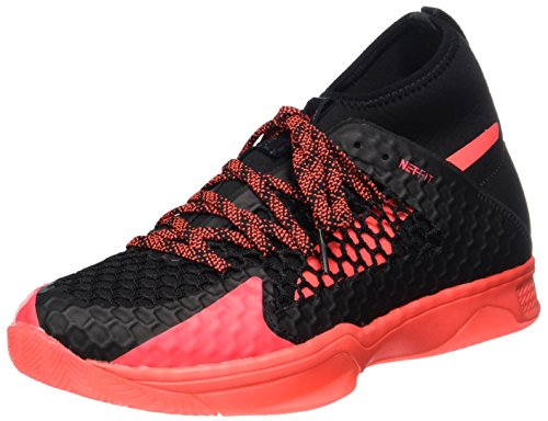Puma Unisex-Erwachsene Evospeed Indoor Netfit 1 Hallenschuhe, Schwarz (Black-Fiery Coral)