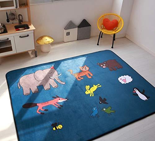Kinderteppich Cartoon Animal Print Rutschfeste Schlafzimmer Dekoration Baby Krabbeln Boden Weiche Matte 80cmx150cm