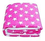 #10: BRANDONN Newborn Pinkstar Polka Wrapping Sheet Cum Baby Blanket For Babies (Pink, 75Cmx98Cm)