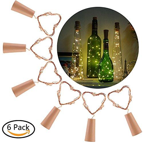 Weiß Weinflasche Kork Lichter - 40inch / 100cm 20 LED Kupferdraht Lichter String Starry LED Lichter für Flasche DIY, Party, Dekor, Weihnachten, Halloween, Hochzeit (Halloween-dekor)