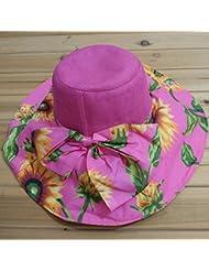 Sol de verano cap Corea Versi¨®n Sombrero para el sol sombrero stetson plegar gorras playa cap sombrero de paja