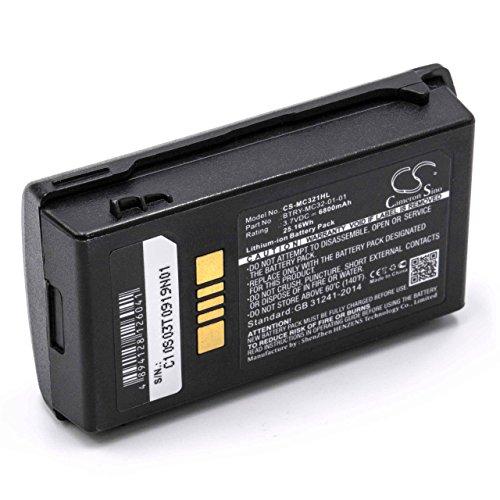 vhbw Li-Ion Akku 6800mAh (3.7V) für Barcode-Terminal wie Motorola BTRY-MC32-01-01