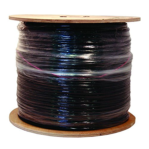 Southwire 56918445 500-Feet Quad Shields Type RG 6/U 18 AWG Coaxial Cable, Black by Southwire Quad Shield