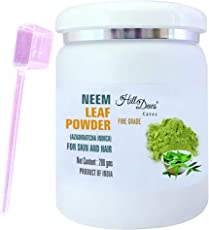HillDews Neem Leaf Powder (200 gms) With Spoon For Skin and Hair