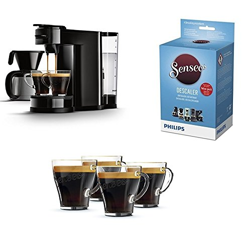 Senseo HD7892/60 Switch 2-in-1 Kaffeemaschine für Filter, Schwarz; mit Starterset