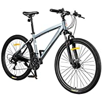 XMIMI Neumáticos de Cambio de Bicicleta Bicicleta de montaña Frenos de Doble Disco Horquilla Delantera Hombres y Mujeres Estudiantes Bicicleta Todoterreno 21 Velocidad 26 Pulgadas