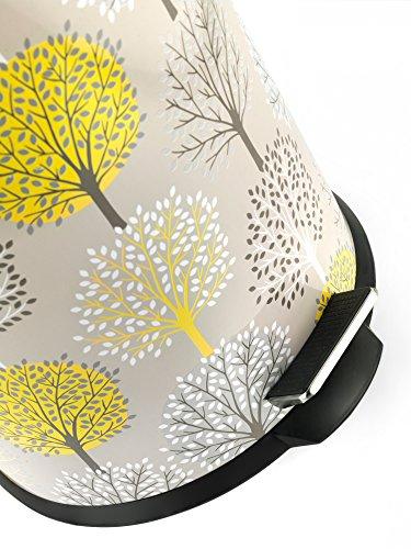Salter BW05078 Natural Trees 30 Litre Yellow Kitchen Bin