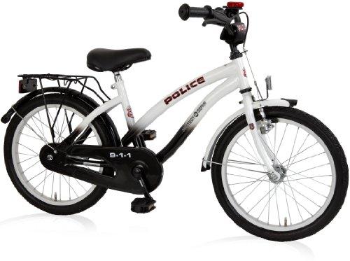 Bachtenkirch Kinder Fahrrad POLICE Cruiser Kinderfahrrad, Schwarz/Weiß, 18 - Fahrrad-polizei