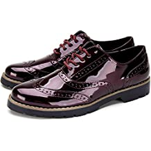 Mujer Amazon Envío Oxford Charol Gratis es Zapatos Nn0wO8vm