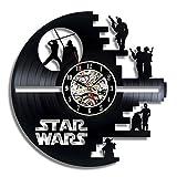 Meet Beauty Star Wars Death Star entworfen LP Record Wanduhr