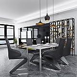 vidaXL 6xFreischwinger Esszimmerstühle Schwingstuhl Z Form Sitzgruppe Kunstleder