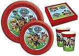 Lote de Cubiertos Infantiles'Patrulla Canina' (16 Vasos, 16 Platos y...