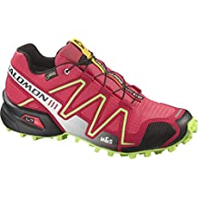 Salomon Speedcross 3 GTX Transalp W Zapatillas Deportivas Color Papaya/ Dynamic/ Firefly Verde Intenso - pap, 42 2/3