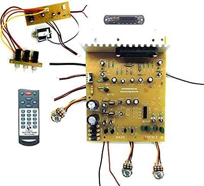 450 WATTS DIY STK 4141 Based Stereo Audio Amplifier Board Bluetooth Module Card KIT (Better Than 4440 IC, 2n3055) with Karaoke MIC Circuit