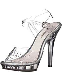 Fabulicious - Sandalias de vestir de Material Sintético para mujer, color gris, talla 35.5