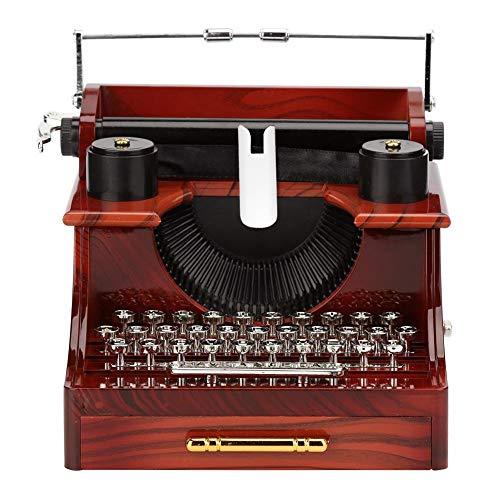 Asiproper Klassische Schreibmaschine Modell Spieluhr Holz Metall Antike Spieluhren Spielzeug
