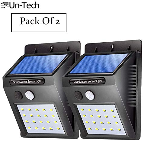 Gadgetbucket UnTech Solar Motion Sensor 20 LED Wall Light -Pack of 2