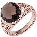 Jobo anillo Ladies 585 oro rosa 1 cuarzo ahumado marrón Gold Ring