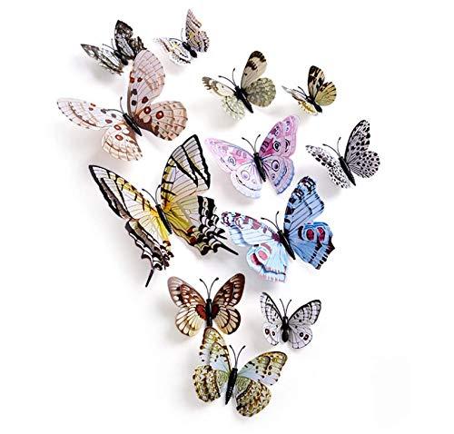 SUNXIN 12 decoración hogar estéreo creativo 3D mariposa