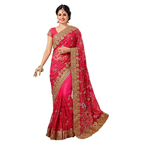 Tiana Creation Net Saree (Krisha-Tc_Pink)