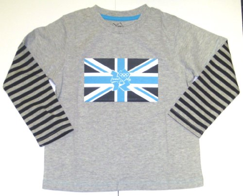 London 2012 Boy'Dual Layer T-Shirt mit Streifen Grau 1.5-2 Years - London 2012 T-shirt
