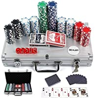 Kemket Poker Chips Set Game Poker Casino Poker Set 300 Pcs In Aluminium Case
