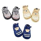 Z-Chen Pack de 3 Pares Zapatillas para Bebé con Suela Antideslizante,...