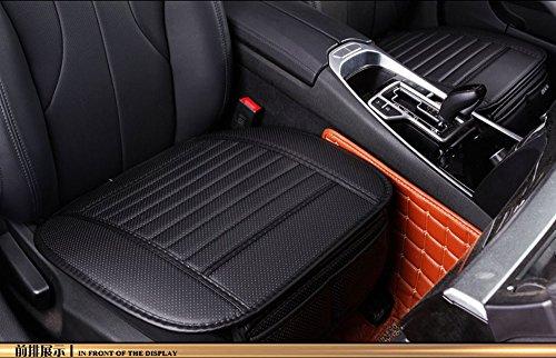 EDEALYN universal PU Leder Vordersitzbezug Autositzkissenbezug Auto Innensitzbezüge Auflage Matte für Auto Auto-Büro Stuhl (Schwarz-A)) (Styling Stuhl)