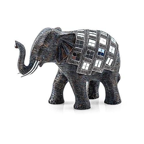Pajoma 20689 Elefant Figur Mosaik, Kunstharz, Höhe 15 cm