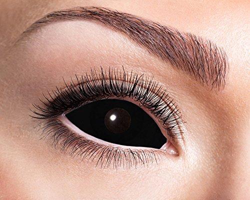 Eyecatcher Sclera Fun - Farbige Kontaktlinsen diameter 22 mm - black Eye - 2 Stück (1 Paar)