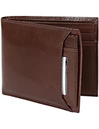 Creature Bi-Fold Brown Genuine Leather Wallet For Men/Boys With Multiple Card Slots(Color-Brown||LWL-007)