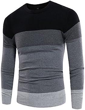 MEI&S Los hombres de cuello redondo tejido ligero suéter suéter de puente