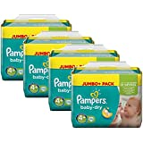 Pampers Baby Dry Größe 4+ Maxi Plus 9-20kg Jumbo Plus Pack (4 x 76 Windeln)