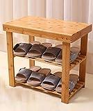 Wooden 3 Tier Shoe Rack Cabinet Organizer Shelf Foot Wear Storage Stand