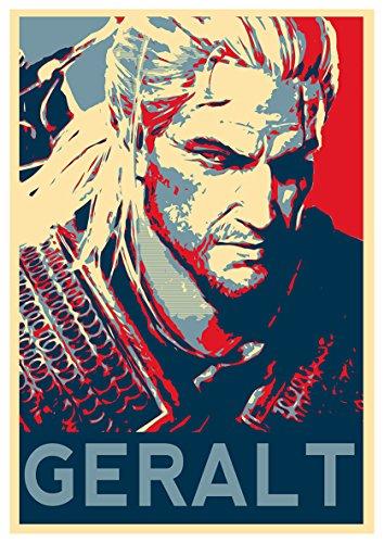 "Poster The Witcher 3 ""Propaganda"" Geralt - A3 (42x30 cm)"