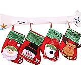 HAPPYWINTER 4 Stücke Weihnachtsstrumpf Chrismas Dekoration Socke Für Zuhause Weihnachtsbaum Ornamente Geschenk Halter Strümpfe Jahr Geschenk Taschen