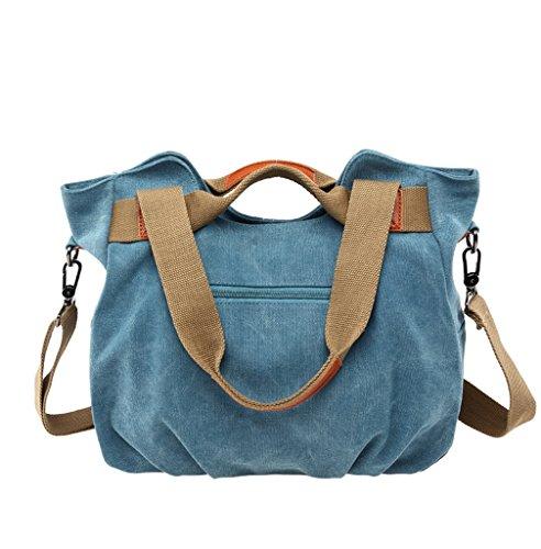 Supa Moden Damen Leinwand Handtasche Schultertasche Hobo Taschen Handtasche Crossbody-Tasche Dunkelblau
