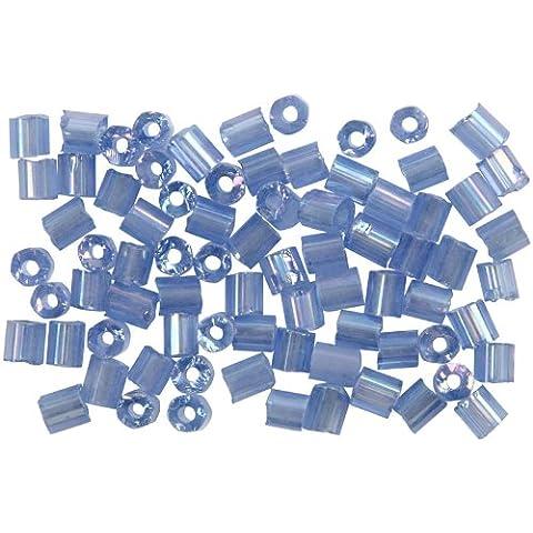 Bolas de semillas de rocalla, 6/0 de tamaño, el tamaño del agujero 0,9 a 1,2 mm, 25 g, polvo azul