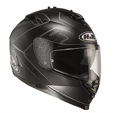 HJC IS17 Lank MC5SF Black Motorcycle Crash Helmet (Large)